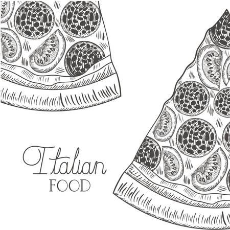 delicious italian pizza isolated icon vector illustration design Vektoros illusztráció