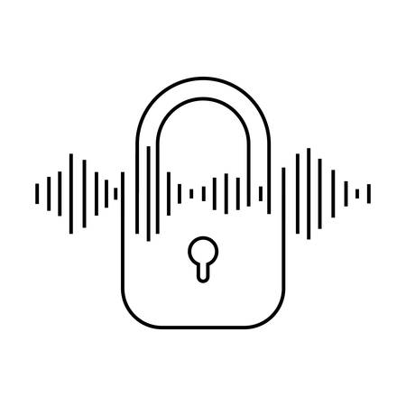 security padlock isolated icon vector illustration design Illustration