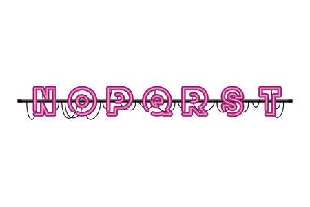 alphabet in neon light isolated icon vector illustration design 向量圖像