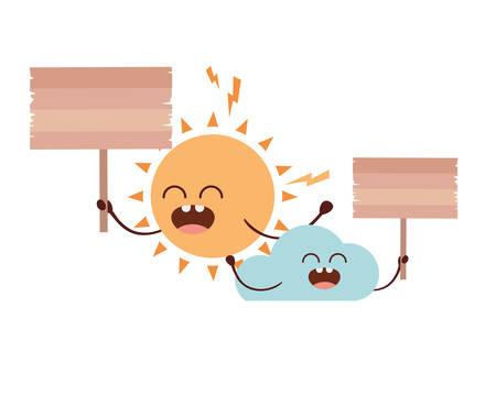 radiant sun kawaii isolated icon vector illustration design