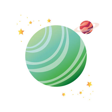 planet of the solar system isolated icon vector illustration design Illustration