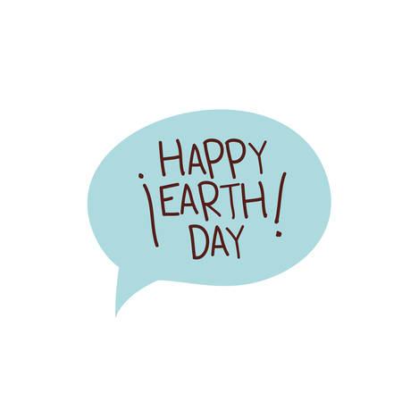 happy earth day label icon vector illustration design