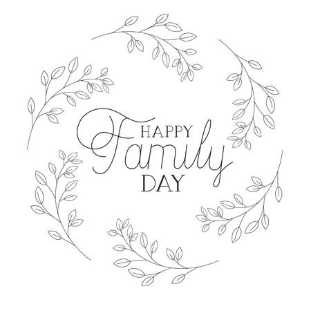 happy family day label isolated icon vector illustration design Stock fotó - 120021691