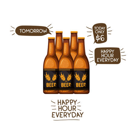 bottle of beer isolated icon vector illustration desing