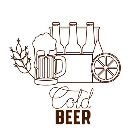 craft beer label isolated icon vector illustration desing