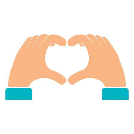 hands forming a heart vector illustration design Vektorové ilustrace