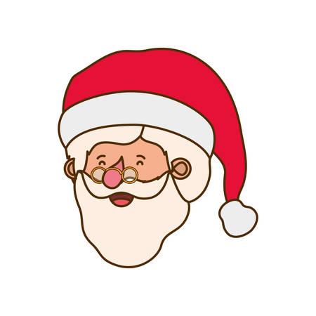 Tête du père noël caractère avatar vector illustration design
