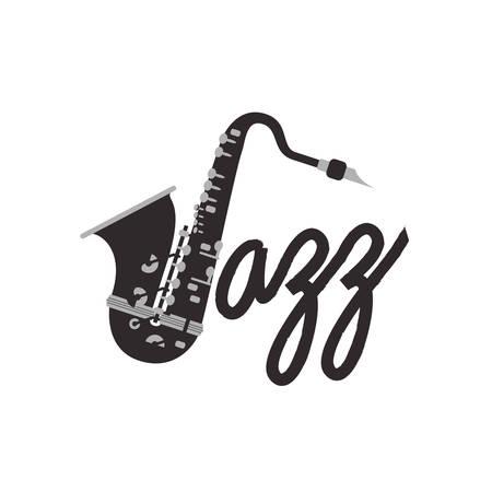musical instrument saxophone icon vector illustration design
