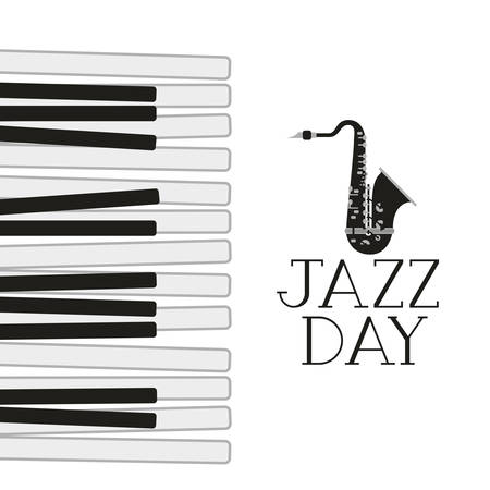jazz day label isolated icon vector illustration design