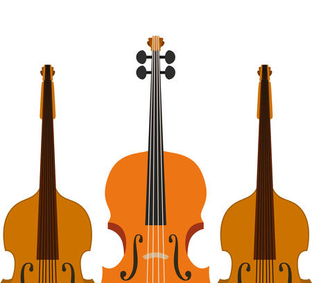 musical instrument violin icon vector illustration design Vector Illustratie