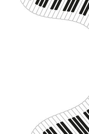 modello di strumento musicale tastiera per pianoforte illustrazione vettoriale design Vettoriali
