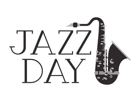 jazz day label isolated icon vector illustration design Standard-Bild - 120289937