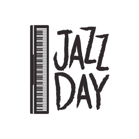 jazz day label isolated icon vector illustration design Stock Vector - 120289938