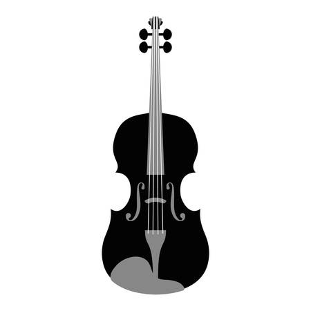 musical instrument violin icon vector illustration design