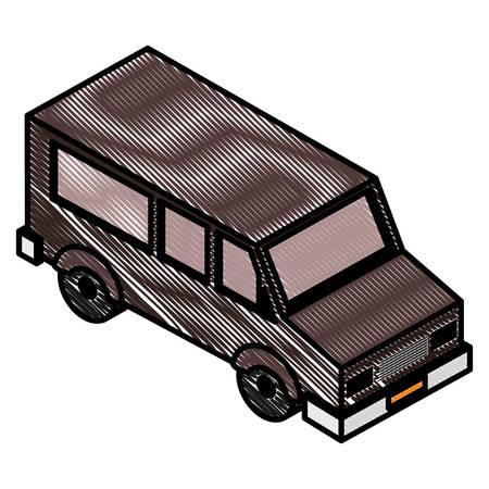 van vehicle isometric icon vector illustration design 일러스트