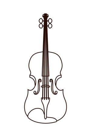 musical instrument violin icon vector illustration design Vettoriali