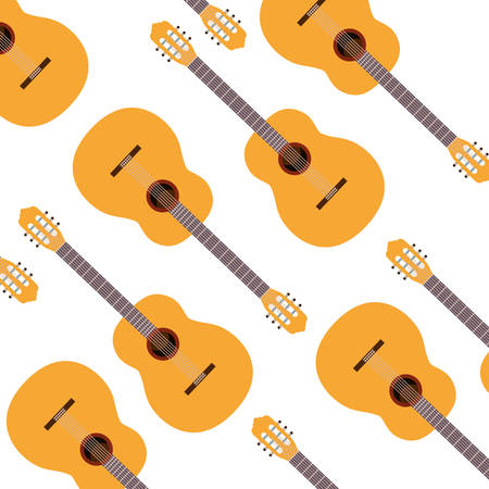 guitar musical instrument pattern vector illustration design 일러스트