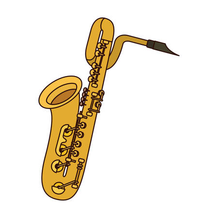 musical instrument saxophone icon vector illustration design
