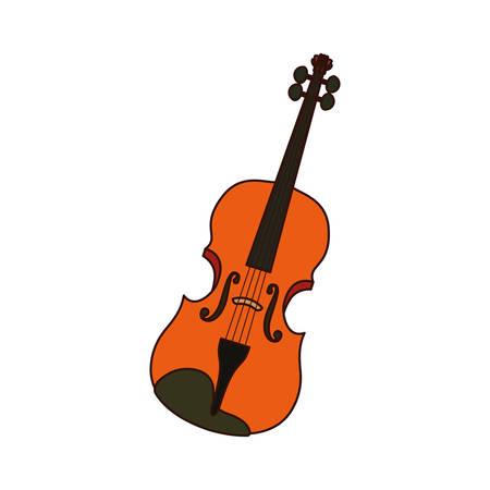 musical instrument violin icon vector illustration design Illustration
