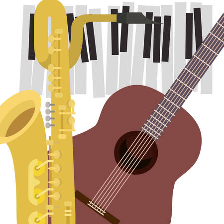 pattern musical instruments icon vector illustration design Illusztráció