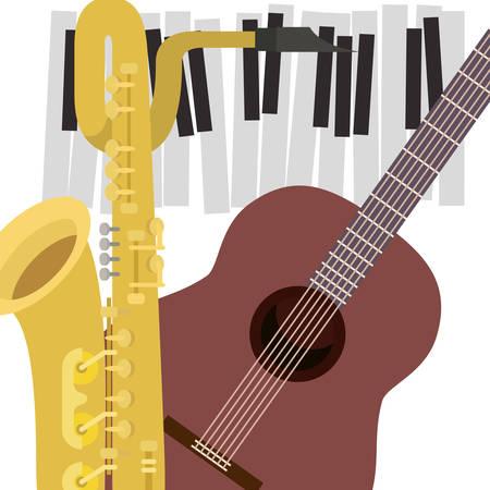 pattern musical instruments icon vector illustration design Illustration