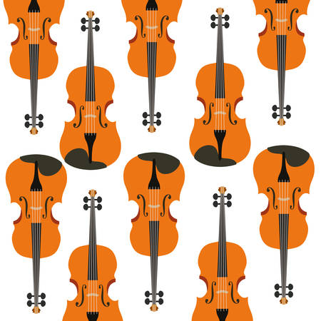 violin musical instrument pattern vector illustration design