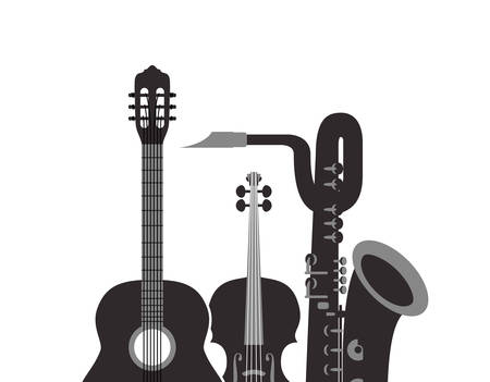 musical instruments pattern icon vector illustration design