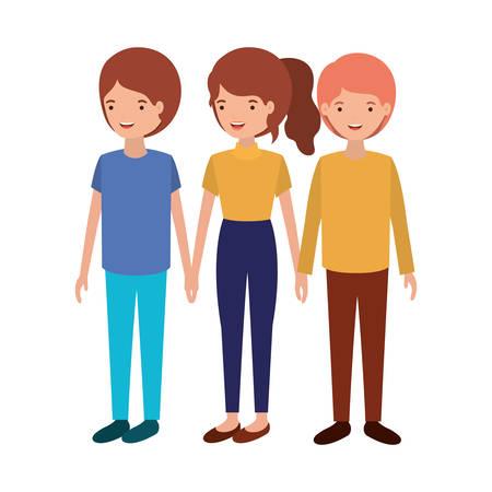 group of people avatar character vector illustration design Illustration