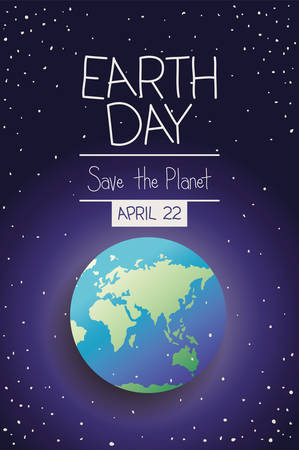 world planet earth day celebration vector illustration design Banque d'images - 120488916