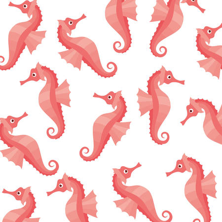 seahorse pattern isolated icon vector illustration design