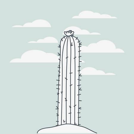 cactus plant landscape scene vector illustration design Illustration