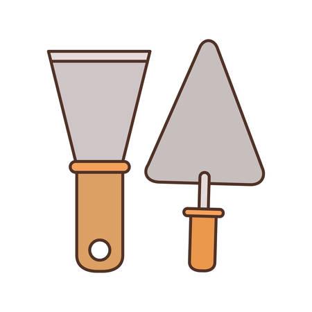 Outil spatule vecteur icône isolé illustration design