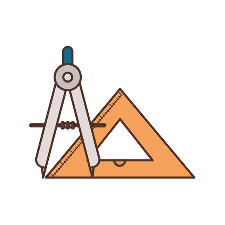 Outil boussole vecteur icône isolé illustration design