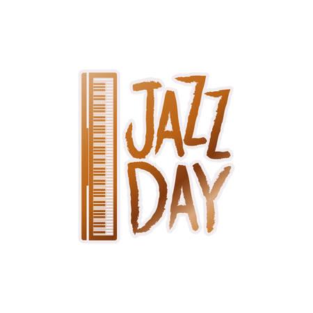 jazz day label isolated icon vector illustration design Standard-Bild - 120800594