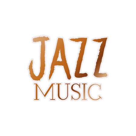 jazz music label isolated icon vector illustration design