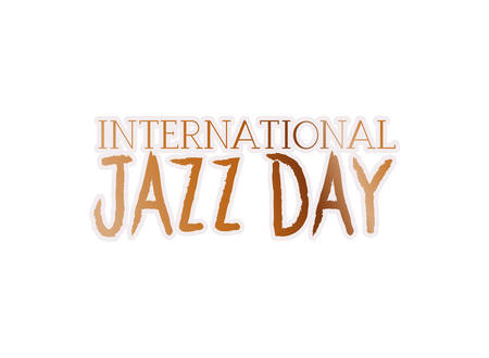 jazz international day label isolated icon vector illustration design