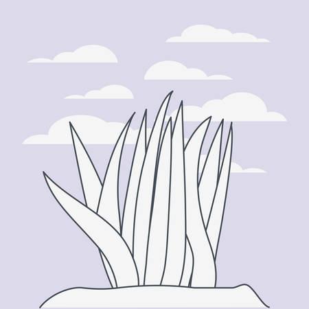 marine plants ecosystem scene vector illustration design Stock Vector - 123366858