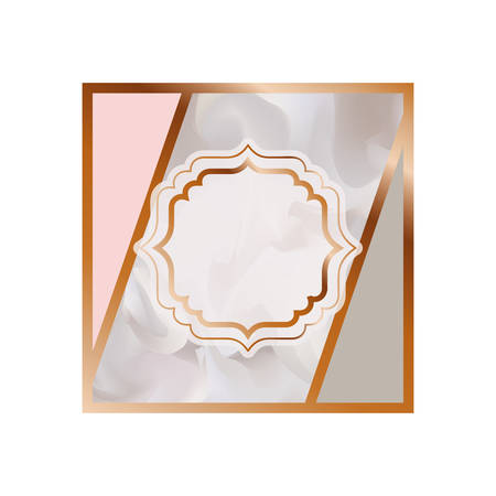 card with marble texture icon vector illustration design  イラスト・ベクター素材