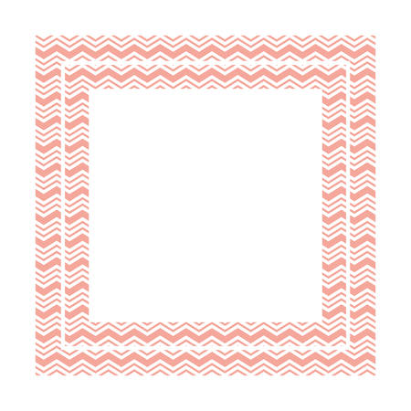 textile pattern frame isolated icon vector illustration design Stock Illustratie