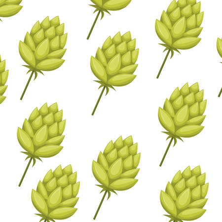 pattern pinecone green isolated icon vector illustration desing