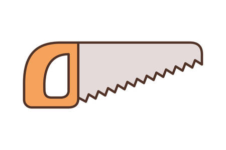saw tool isolated icon vector illustration design