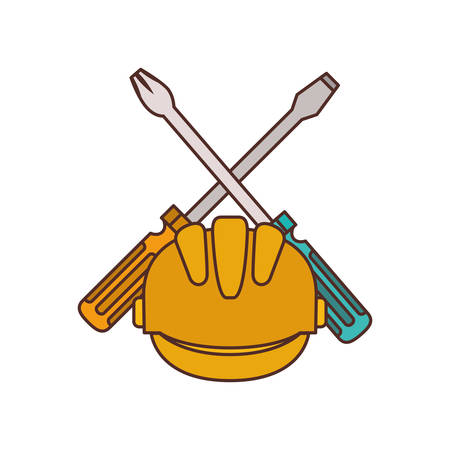screwdriver tool isolated icon vector illustration design