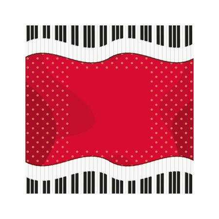 musical instrument pattern piano keyboard vector illustration design
