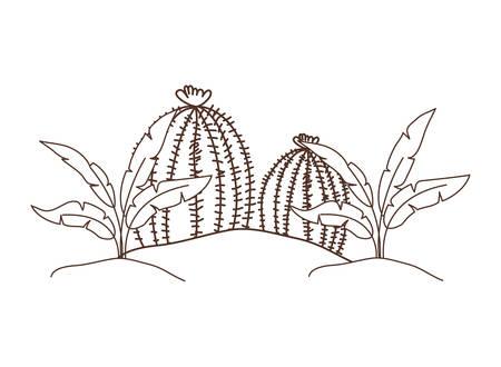 plant in landscape isolated icon vector illustration design Reklamní fotografie - 123182483