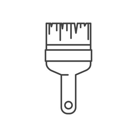 paint brush tool isolated icon vector illustration design
