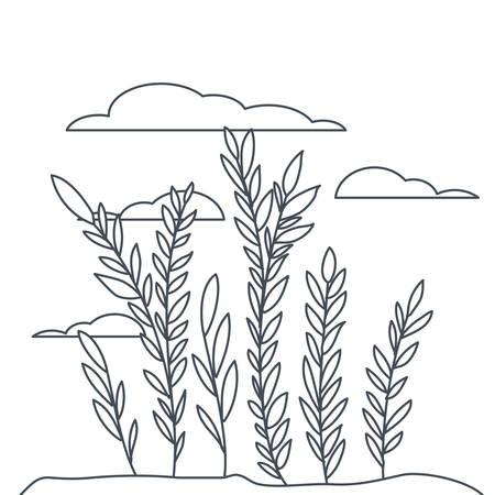 plant in landscape isolated icon vector illustration design Stock Illustratie