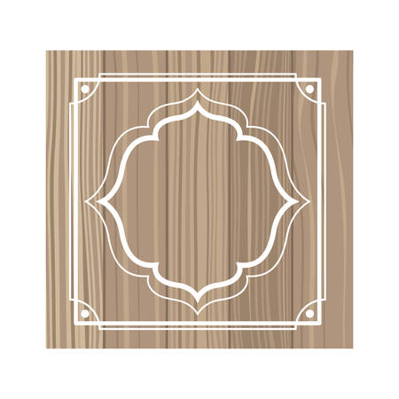 wooden background with frame icon vector illustration design