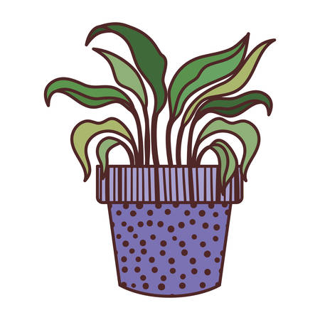 houseplant with potted isolated icon vector illustration design  イラスト・ベクター素材