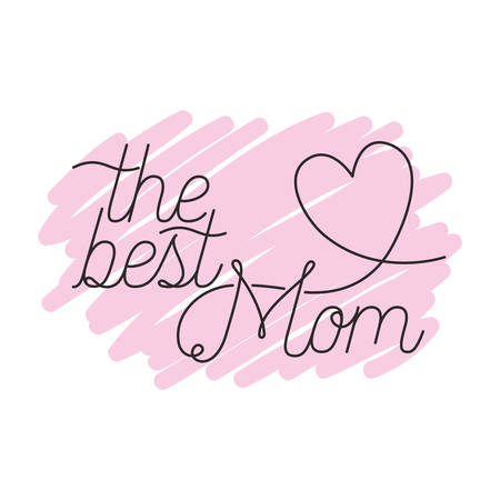 mom the best label isolated icon vector illustration design Illustration
