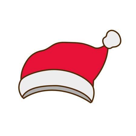 cappello di babbo natale icona isolata illustrazione vettoriale deisgn
